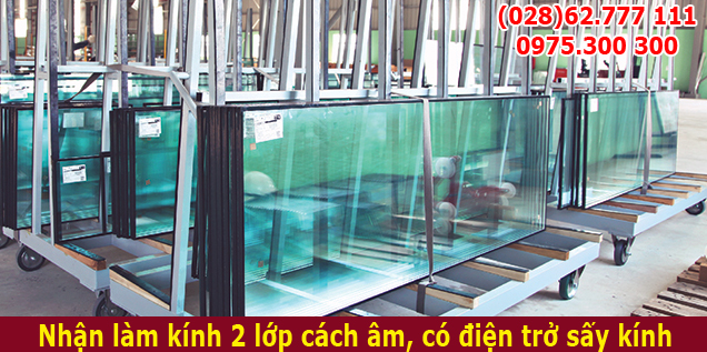 kính hộp có sấy cho kho lạnh kho đông, cửa kính tủ mát